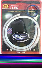 2stk utslipp tube ledet myk lampe auto øyenbryn høydepunkt ledet lampe lyser artikkel 60 cm