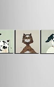Peint à la main AnimalStyle européen Un Panneau Toile Peinture à l'huile Hang-peint For Décoration d'intérieur