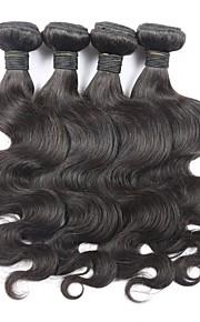 """4kpl paljon 8 """"-30"""" Brasilian neitsyt hiukset kehon aalto luonnon musta hiuksista sotkeutumaton hiusten pidennykset"""