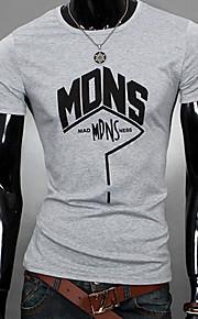 T-shirt Uomo Casual Con stampe Manica corta Poliestere