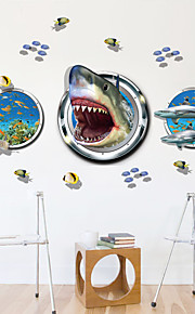 Dyr Wall Stickers 3D mur klistermærker,PVC 90*60cm
