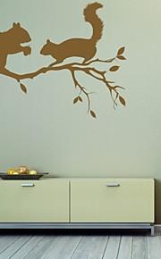 חיות / רומנטיקה / אופנה / אבסטרקט / פנטזיה מדבקות קיר מדבקות קיר מטוס,PVC M:42*63cm/ L:55*82cm