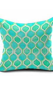 Mint Green Morocco  Cotton/Linen Pillow Cover , Nature Modern/Contemporary  Pillow Linen Cushion