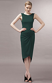 Women's Sexy / Bodycon / Beach / Casual / Party / Work / Plus Sizes / Vintage Dress Asymmetrical Polyester / Spandex