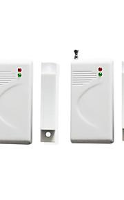 finestra di allarme porta di ingresso 2pcs / contatto magnetico rilevatore di sensori wireless 433 solo per il sistema di allarme del
