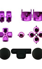 udskiftning controller tilfælde monteringssæt indstillet til ps3 controller rød / grøn / blå / lilla