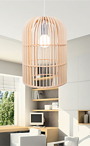 12W Vintage LED Birdcage Wood Chandeliers Living Room / Bedroom / Dining Room / Study Room/Office / Hallway