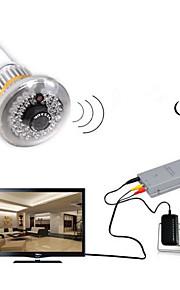 2,4 g trådløs pære CCTV sikkerhed av kamera sæt med 600tv linjer censurere 36pcs IR LEDs (940nm) og usynligt lys