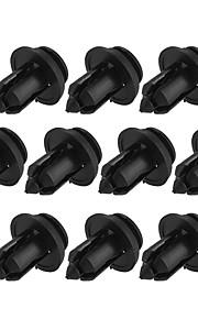 10x sort plast universal bil dørbeklædningerne holderen klip befæstelser