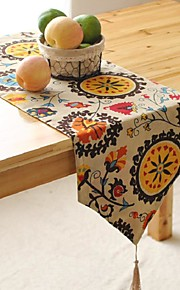 a cuadros patrón corredor de la tabla del hotsale de alto grado de mesa sábanas de algodón superior deco