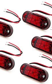 5 x 2 rojos llevaron marcador lateral, luces indicadoras camión remolque 10 ~ 30v