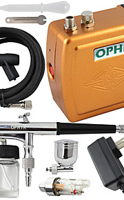 OPHIR New 12V DC 0.3mm Dual-Action Airbrush Kit Air Compressor for Nail Art Makeup Tattoo
