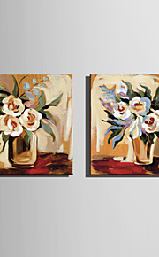 Mini Size E-HOME Oil painting Modern A Flower In The Bottle Pure Hand Draw Frameless Decorative Painting