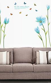 Romantik / Mote / Blomster Wall Stickers Fly vægklistermærker,PVC 60*90cm(23.6*35.4 inch)