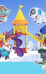 koira partio pysäköinti kiertoradalla park koulutus leluja lapsille patrulla canina toys.with kaksi pentua