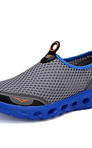 Серый / Серо-коричневый / Тёмно-синий-Мужская обувь-Для прогулок / На каждый день / Для занятий спортом-Тюль-Кроссовки / Без застежки