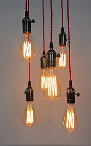 6 Heads Retro Pendant Lights , DIY Art Living Room Dining Room/Study Room/Office/Entry/Hallway light Fixture