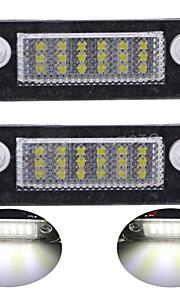 2pcs para d-mondeo llevaron la luz de placa 14w llevado 3528smd con decodificador llevada especial