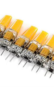 LED à Double Broches Décorative Blanc Chaud / Blanc Froid LONGSHINE 6 pièces MR11 G4 3W 1 COB 180 lm DC 12 / AC 12 V