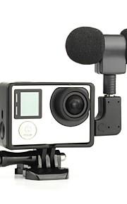 1 GoPro välineet sileä kehys / Mikrofoni Varten Gopro Hero 3 / Gopro Hero 3+ / GoPro Hero 4 / GoPro Hero 4 MustaMukava / USB /