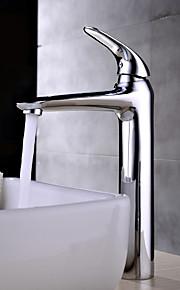 Montagem em Plataforma Single Handle Uma Abertura in Cromado Torneira pia do banheiro