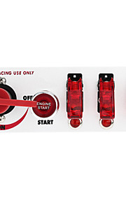 flip-up start contactslot knoppenpaneel diy auto modificatie switch-accessoires met rode LED-indicator