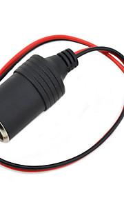 jtron diy 12 ~ 24V bilens cigarettænder oplader - (sort&rød)