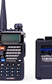 Baofeng UV-5RB Walkie-talkie 5W/1W 128 136-174 mHz / 400-520MHz 1800mAh 1,5-3 kmFM-radio / Stemmekommando / Dual-band / Dual display /