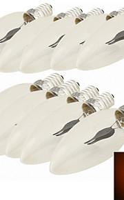 10 stk. YouOKLight® E14 1.5W 1 Høyeffekts-LED 120 lm Rød C35 Dekorativ LED-lysestakepærer AC 220-240 V