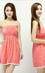 新しい女性の女性のサンゴのベルベットのソフトブラバスバスローブタオルのスカートのドレス