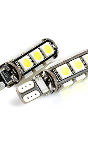 exLED T10 2.6W 208lm 13-SMD 5050 LED White Light Car Clearance lamp (12V / Pair)