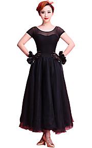 Ballroom Dance Dresses Women's Performance Chinlon / Organza / Milk Fiber Lace 1 Piece