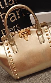 Women PU Hobo Shoulder Bag / Tote-Gold / Silver / Gray / Black