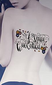 Fashion Large Temporary Tattoos Sexy Body Art Waterproof Tattoo Stickers Music 2PCS