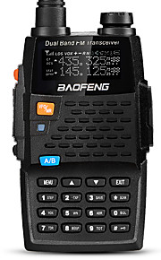 Baofeng UV-5R 4TH Walkie-talkie 5W/1W 128 136-174 mHz / 400-520MHz 2800mAh 1,5-3 kmFM-radio / Stemmekommando / Dual-band / Dual display /
