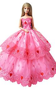 Multi-farge-Sateng / Blonde-Prinsesse-Kjoler-Kjoler