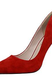 Chaussures Femme-Bureau & Travail / Décontracté-Noir / Marron / Vert / Rose / Rouge / Gris-Talon Aiguille-Talons / Bout Pointu / Bout