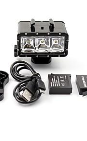 1 Set GoPro välineet Spot Light LED Varten Gopro Hero 3 / Gopro Hero 3+ / Kaikki / GoPro Hero 4 / Xiaoyi / SJ4000 Vedenkestävä / LED