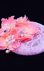 Women's Lace / Rhinestone / Imitation Pearl Headpiece-Wedding / Special Occasion / Casual / Outdoor Fascinators 1 Piece