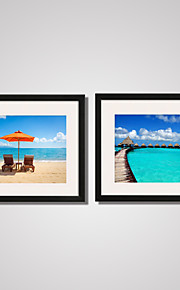 Landskap / Fotografisk / Modern / Fritid Canvastryck Två paneler Redo att hänga,Horisontell