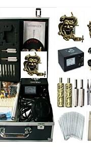 Basekey Tattoo Kit K0132 2Guns Machine With Power Supply Grips Cleaning Brush Needles