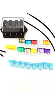 iztoss auto vrachtwagen 4 way circuit standaard ato blad zekeringkast blok houder 12v 24v met zekering en gereedschappen voor de montage