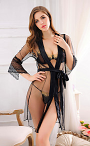 Women Sexy Transparent Three Pieces Suits Nightwear,Nylon / Polyester