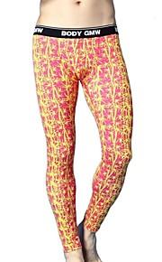 men long johns men's bodysuit mens print  tight leggings pants N500113