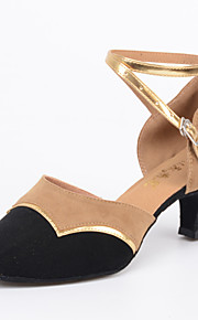 Customizable Women's Dance Shoes Latin / Jazz / Modern / Swing Shoes / Salsa / Samba Flocking Customized Heel Black