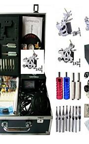 Basekey Tattoo Kit K0093 3Guns Machine With Power Supply Grips Cleaning Brush Needles