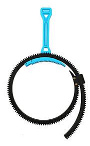 fotga® justerbar zoom følge fokus fleksibel gear bælte ring håndtag håndtag 46-110mm til dslr kamera sort blå grå