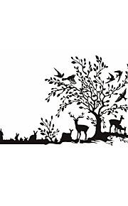Dyr / Botanisk / Tegneserie / Romantik / Mote / Mat / Højtid / Landskap / Former / fantasi Wall Stickers Fly vægklistermærker,PVC145cm x
