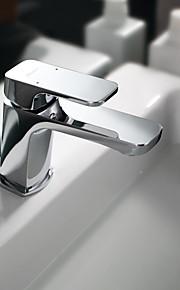 Conjunto Central Single Handle Uma Abertura in Cromado Torneira pia do banheiro