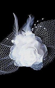 Women's Tulle / Fabric Headpiece-Wedding / Special Occasion Flowers / Hair Clip 1 Piece
